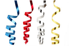 Colorful ribbons in front of white background Royalty Free Stock Photo