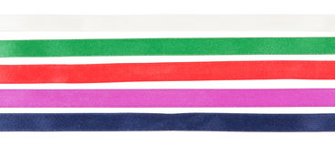 The colorful ribbons Stock Photos