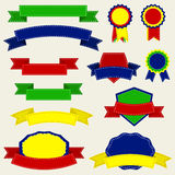 Colorful Ribbons And Label , Vector Illustration. Eps10 Illustration vector illustration