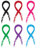 Colorful Ribbons Set Stock Photo