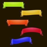 Colorful ribbons set Royalty Free Stock Photo