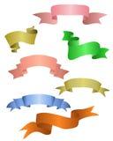 Colorful ribbons set Stock Photo