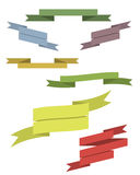 Colorful ribbons set. For your project Stock Photography