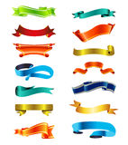 Colorful Ribbons Vector Royalty Free Stock Photos