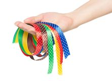 Colorful ribbons Stock Image