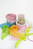 Colorful ribbons for wrapping gifts Stock Photography