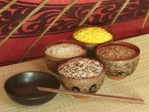 Colorful rice set detail Stock Photo