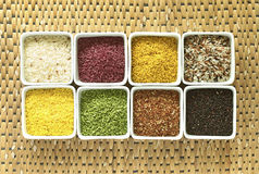Colorful rice set detail Stock Images