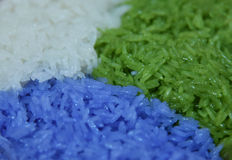 Colorful rice Stock Images