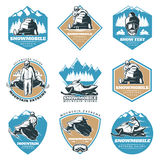 Colorful Riding Tour Labels Set Royalty Free Stock Image