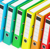 The colorful ring binders. 3d generated picture of some colorful ring binders royalty free illustration