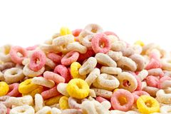 Colorful ring cereals Stock Photos