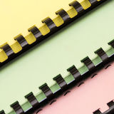 Colorful Ring Notebooks Stock Images