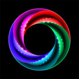 Colorful ring with sparks Royalty Free Stock Image