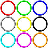Colorful Rings. Isolated in white Royalty Free Stock Photos