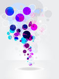 Colorful rings on white.Vector abstract background Stock Photography