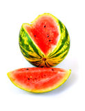 Colorful ripe watermelon in a white background Stock Image