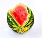 Colorful ripe watermelon in a white background Stock Photography