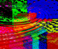 Colorful ripples background. Multi coloured background with ripples Stock Photo