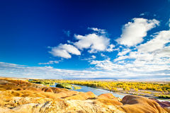 Colorful river bank Stock Photography