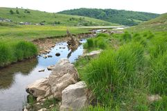 Colorful River Uvac at Pester Plateau in Serbia Royalty Free Stock Photography