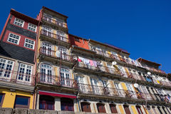 Colorful riverside buildings in Porto Stock Photography