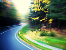 Colorful road motion blur Stock Photos