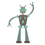 Colorful robot character Stock Photos