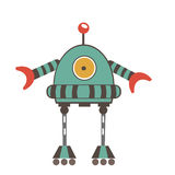 Colorful robot character Stock Images
