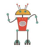 Colorful robot character Royalty Free Stock Photography