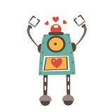 Colorful robot character Royalty Free Stock Image