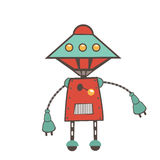 Colorful robot character Royalty Free Stock Photos