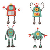 Colorful robot characters collection Royalty Free Stock Image