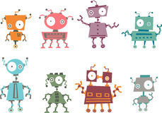 Colorful robot collection Royalty Free Stock Photos