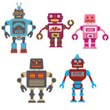 Colorful robots Stock Images