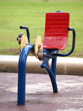 Colorful robust metal public exercise equipment Royalty Free Stock Photography