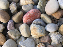 Colorful Rock Bed. A close up shot of a colorful bed of landscaping rocks Royalty Free Stock Photos