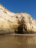 Colorful rock cliffs of the Algarve Royalty Free Stock Images