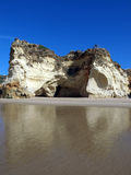 Colorful rock cliffs of the Algarve Royalty Free Stock Photo