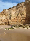 Colorful rock cliffs of the Algarve Royalty Free Stock Photography