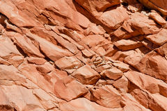 Colorful rock face boulders Royalty Free Stock Photography