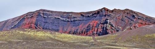 Colorful rock formation along Landmannaleid road 225 in Highlands of Iceland. Fridland ad Fjallabaki Natural park royalty free stock images