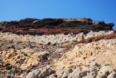 Colorful rock formations, madeira, portugal Stock Photo