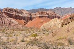 Colorful rock formations in the Quebrada de las Conchas, Argenti Stock Photos