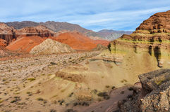 Colorful rock formations in the Quebrada de las Conchas, Argenti Royalty Free Stock Images
