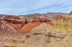 Colorful rock formations in the Quebrada de las Conchas, Argenti Royalty Free Stock Image