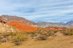 Colorful rock formations in the Quebrada de las Conchas, Argenti Royalty Free Stock Photo