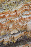 Colorful Rock Layers. Colorful layers at Ramon Crator, Israel Stock Images