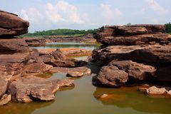 Colorful rock, Mekong River Stock Image