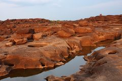 Colorful rock, Mekong River Stock Photography